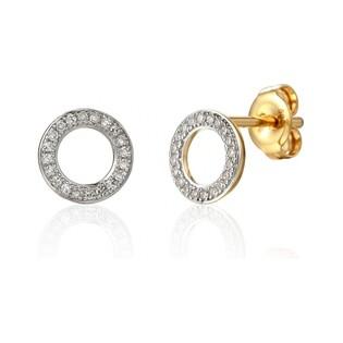 Kolczyki złote z brylantami nr AW 62793 YW próba 585 Sezam - 1