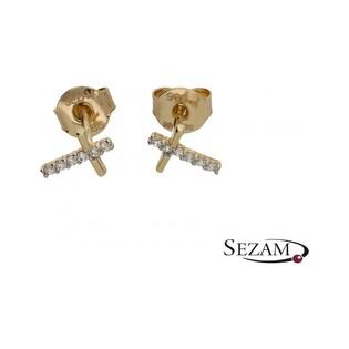 Kolczyki sztyfty krzyżyki FANCY ES138-CZ