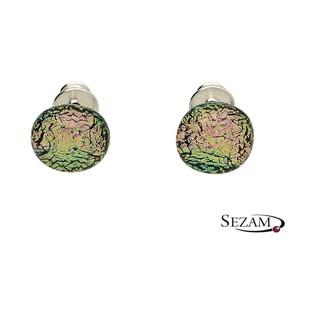 Kolczyki ze szkła murano kora różowa nr KQ042 kora różowa