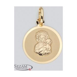 Medalik złoty Matka Boska Częstochowska nr CPP/3 próba 585