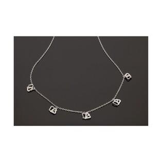 Naszyjnik srebrny serca FANCY nr OA H0416