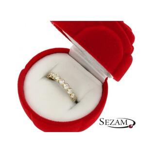 Pierścionek złoty z cyrkoniami MZ R2016-16-CZ Au 333