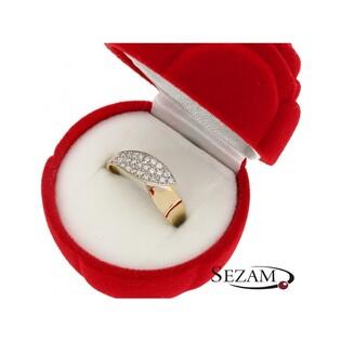 Pierścionek złoty z cyrkoniami OS 96-9075 Au 585 Sezam - 1