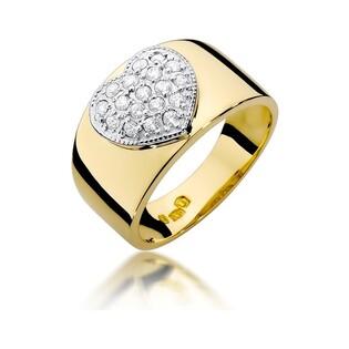 Pierścionek zaręczynowy z diamentami BE W-352 Serce