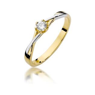 Pierścionek zaręczynowy SOLITER z diamentem  BE W-340 próba 585 Sezam - 1