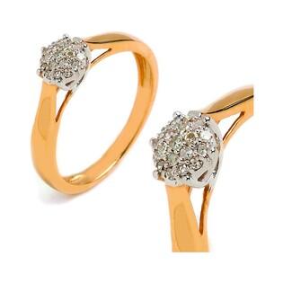 Pierścionek zaręczynowy z diamentami Bridell nr RQ 155M próba 585