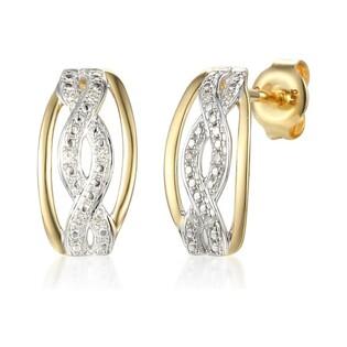 Kolczyki złote z diamentami nr AW 60519 Y próba 375