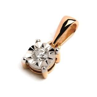 Zawieszka z diamentem ze złota próby 585 nr RQ 101MP