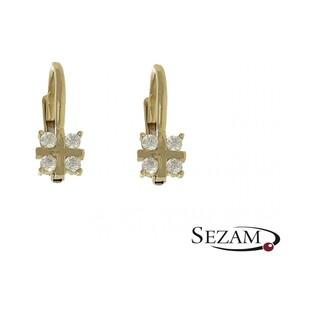 Kolczyki złote z cyrkoniami nr AR 4205-III-DC-FCZ, Au 333