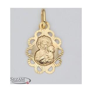 Medalik złoty z Matką Boską Częstochowską nr M/0653 próba 585
