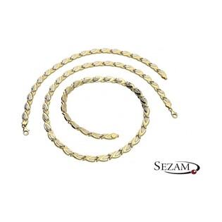 Komplet biżuterii stampato naszyjnik+bransoleta nr DJ DJ003/N+B, 14 karat