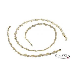 Komplet biżuterii naszyjnik+bransoleta nr DJ DJ005/N+B, 14 karat