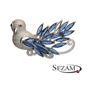 Broszka  srebrna ptak nr JA JA195
