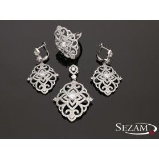 Komplet srebrny kolczyki+zawieszka nr JA JA024/K+Z, srebro 925