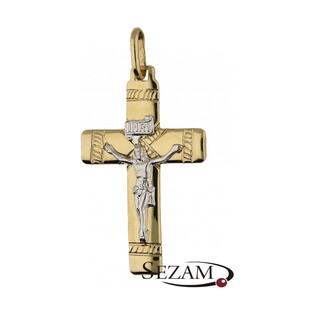 Krzyżyk złoty z wizerunkiem nr BC BC24 próba 585