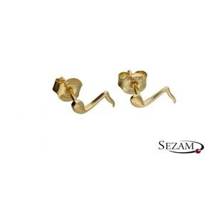 Kolczyki złote nutki nr MZ ES345 Au333