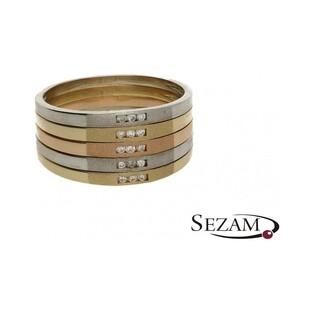 Pierścionek z diamentami model obrączkowy nr DI 59/02/5 Line