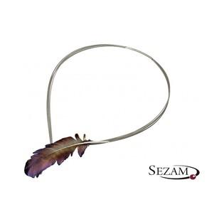 Naszyjnik srebrny w kształcie pióra nr AG ARTIS A.Głodowski 521