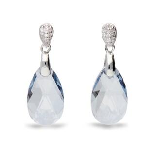 Kolczyki srebrne z kryształami Swarovski nr CQ KW610616BLS