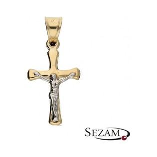 Krzyżyk złoty z wizerunkiem Jezusa nr MX 15STP0102-YW AU585