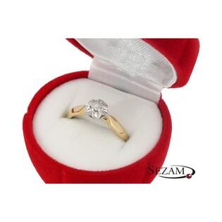 Pierścionek zaręczynowy z diamentem nr KU 6950 Flower Magic