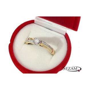 Pierścionek zaręczynowy z diamentami nr KU 5430 Soliter Magic bis