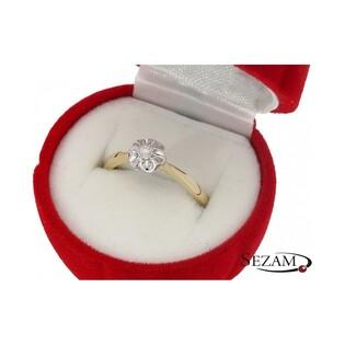 Pierścionek zaręczynowy z diamentami nr KU 6940 Flower Magic