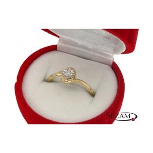 Pierścionek zaręczynowy z brylantem nr KU 4915 Soliter Magic