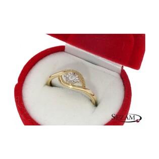 Pierścionek zaręczynowy z diamentem nr KU 4916 Soliter Magic