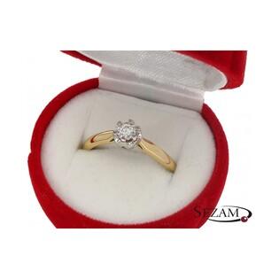 Pierścionek zaręczynowy z diamentem nr KU 68102 Flower Magic