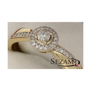 Pierścionek zaręczynowy z diamentami nr KU 105833 Sweet bis