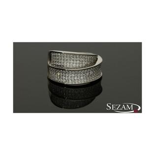 Pierścionek srebrny z cyrkoniami nr HS HS230
