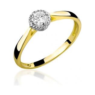 Pierścionek zaręczynowy z diamentem Soliter nr RS RS0067
