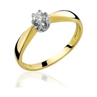 Pierścionek zaręczynowy z diamentem ROYAL RS0156 próba 585 Sezam - 2