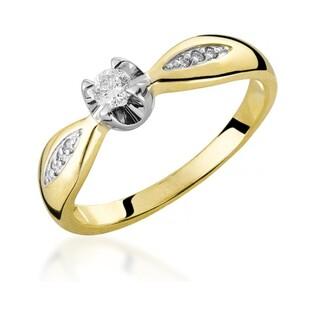 Pierścionek złoty zaręczynowy z diamentem ROYAL RS0213 próba 585 Sezam - 2