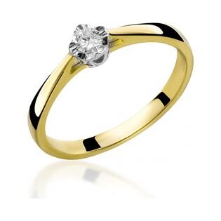 Pierścionek zaręczynowy z diamentem Soliter nr RS RS0269