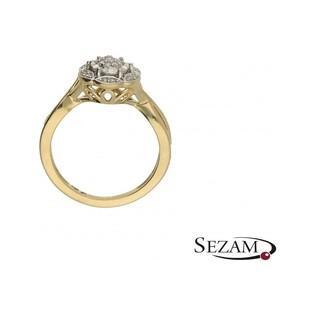 Pierścionek zaręczynowy z diamentami nr KU 104432 Au 585 Art Deco