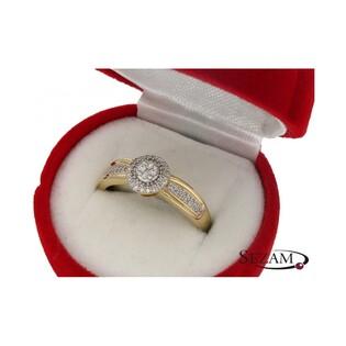 Pierścionek zaręczynowy z diamentami Anemon Mirage nr KU 104789