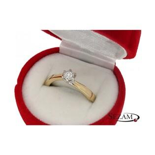 Pierścionek złoty zaręczynowy z brylantem SOLITER Magic KU 55402 próba 585 Sezam - 3