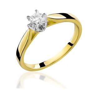Pierścionek złoty z brylantem SOLITER  RS0336 próba 585 Sezam - 2
