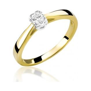 Pierścionek zaręczynowy z brylantem Amado nr RS RS0122 Au585 Sezam - 2
