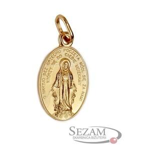 Medalik złoty z wizerunkiem Niepokalanej nr SF SF1 Au 333