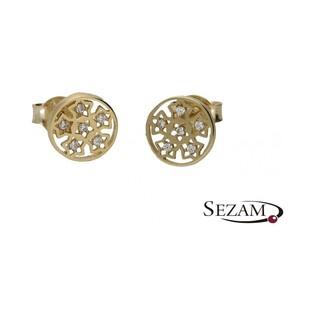 Kolczyki złote śnieżynki nr MX 17CE0339-Y Au 333