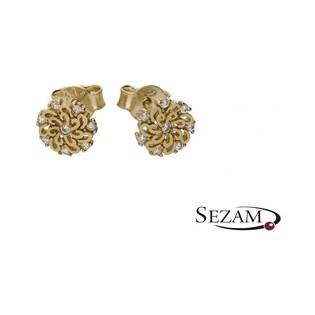 Kolczyki złote kwiatki nr MX 17CE0001-Y Au 333