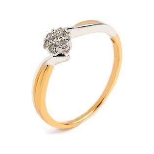 Pierścionek zaręczynowy z diamentami Anemon Magic nr RQ 488MCH, 14 karat