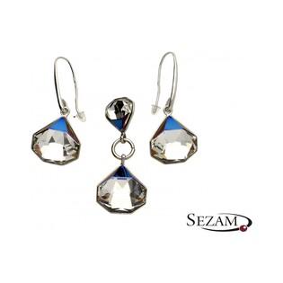 Kolczyki srebrne z kryształami Svarowski nr KP 05468