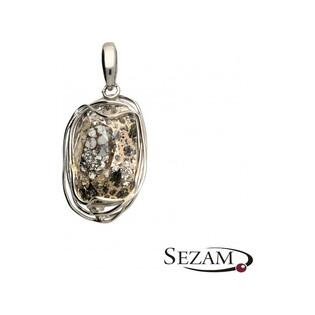 Zawieszka srebrna z kolekcji Brilas nr KP 03961 Sezam - 1