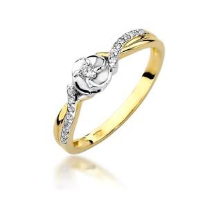 Pierścionek złoty zaręczynowy PAULA twist z diamentami nr BE W-420