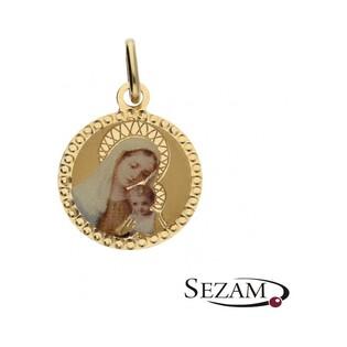 Medalik złoty emaliowany nr OS OS 32-1205 emalia Au 585