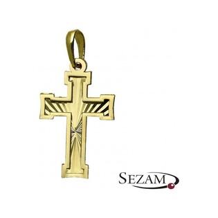 Krzyżyk złoty nr MX 27LZP1833 Au 585